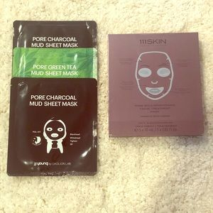 Face Sheet Masks: JJ Young and 112Skin